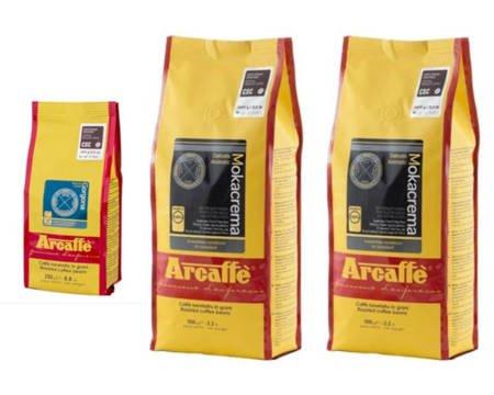 Kawa ziarnista Arcaffe Mokacrema 2x1kg + Kawa ziarnista Arcaffe Gorgona 250g