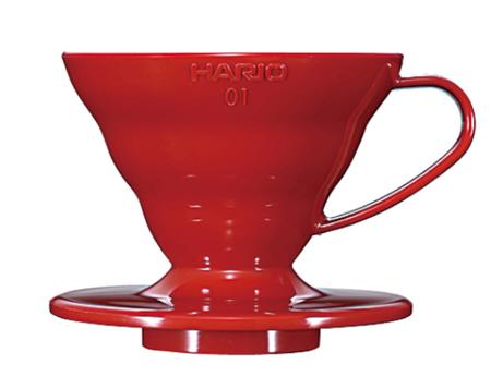 Plastikowy Drip Hario V60-01 - Czerwony